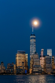 Moon Over World Trade Center 1
